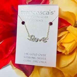 Francesca's Collections Jewelry - Francesca's LOVE 14K Gold Sterling Silver Necklace